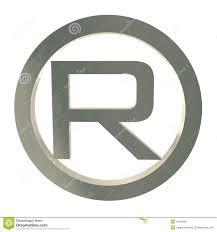 cool letter r letter r trademark symbol isolated on white stock illustration