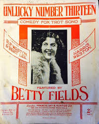 Unlucky Number 13' – Betty Fields | The Official Gracie Fields