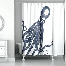 modern octopus shower curtain rings tides