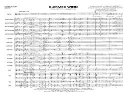 Dave Wolpe Charts Summer Wind Additional Score Arr Dave W J W Pepper