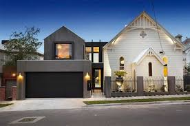 exterior designs large size modern white and grey marble exterior house with black garage door