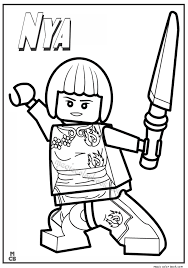 Small Picture Ninjago Lego Coloring Pages nya
