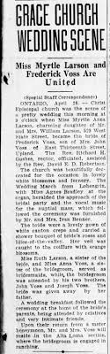 Fred and Myrtle Voss Wedding - Newspapers.com