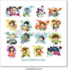 Art Chart Free Art Print Of Good Habits Chart