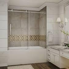 tub shower doors. Moselle 60 In X Completely Frameless Tub-Height Sliding Shower Door Chrome Tub Doors N