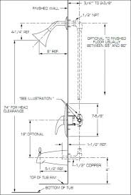 bathroom shower plumbing rough plumbing height for bathtub shower bathroom shower plumbing repair