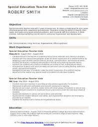 special education teacher aide resume