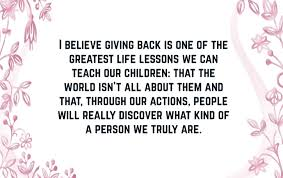 Quotes About Giving Back Enchanting Giving Back Quotes 48 QuoteReel
