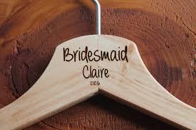 personalized bridesmaid wedding hanger in wood or white hanger engraved wedding gift bride bridesmaids