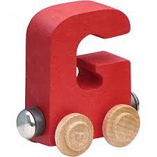 wood train letters g