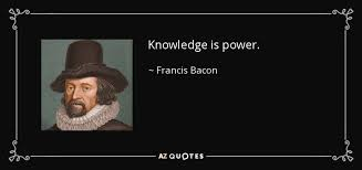 Knowledge Is Power Quote Awesome Francis Bacon Quote Knowledge Is Power