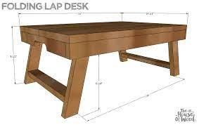 diy folding lap desk plans by jen