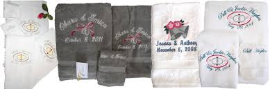 embroidered terry wedding towels personalized wedding towels
