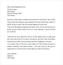 Letter Of Recommendation For A Judge 11 Character Letter Templates For Court Pdf Word