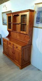 solid pine welsh dresser with glass doors nr2 image 1 of 7