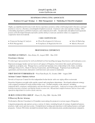 Example Business Consulting Associate And Core Competencies