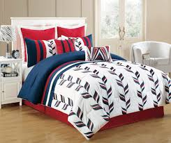 8 piece king fusion red and blue comforter set