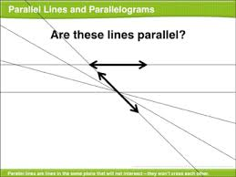 Lines Of Symmetry Powerpoint Parallel Lines And Parallelograms Math Lesson Printable Lesson