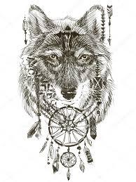 рисунок волков волк волк индийский воин волк эскиз индийского