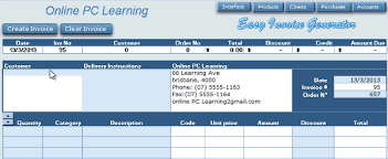 Automatic Invoice Generator Amazing Excel VBA Invoice Generator Easy Invoice Generator Online PC