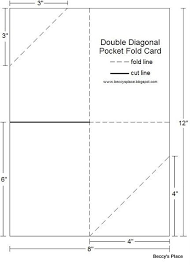 Diagonal Double Pocket Card With Tutorial Card Making