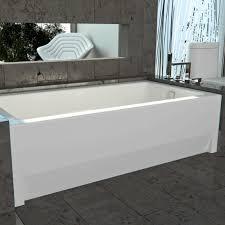 1 wall 2 knee walls surround this bathtub