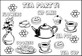 Small Picture Tea Party Coloring Pages