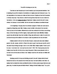 oedipus argument essay essay example on the role of fate in oedipus the king