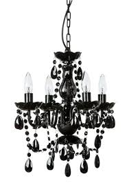 get ations gypsy color 4 arm black chandelier small acrylic crystal chandelier new chic lighting for caf salon
