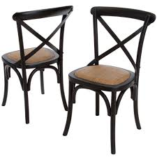 cross back dining chairs. Linz Black Cross-back Dining Chair (Set Of 2) Cross Back Chairs A