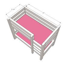 appealing wooden doll bed kits and ana white doll bunk beds for american girl doll and