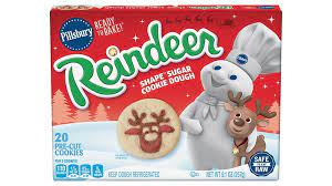 Heat place, and bake for delicious cookies in minutes. Pillsbury Shape Reindeer Sugar Cookie Dough Pillsbury Com