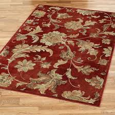 burdy and cream area rug