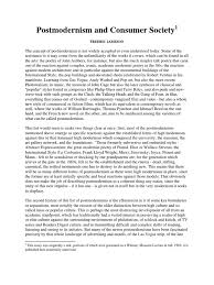 consumer society essay essay society essay on literature and  jameson postmodernism and consumer society modernism postmodernism