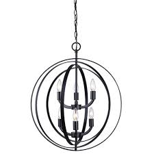 canarm meridian chandelier 6 light