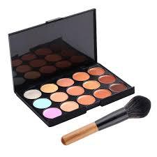 aliexpress 15 color waterproof makeup concealer flame makeup brush contouring concealer brush makeup base maquiagem cosmetics from reliable