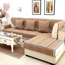 cotton sofa slipcovers linen sofa covers style brown solid cotton linen sofa cover lace decor sectional