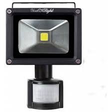 10w waterproof pir motion sensor led floodlight outdoor security light yk0959