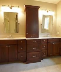 bathroom counter storage tower. bathroom storage tower - cabinet works | custom cabinets in counter t