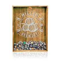 18x24 reclaimed wood beer bottle cap holder wall decor personalized beer decor