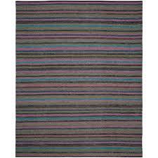 safavieh striped kilim grey multi 8 ft x 10 ft area rug