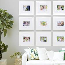 frame gallery collection of 9 frames in white