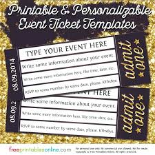 Invitation Ticket Template Admission Ticket Template Admit One Gold Event Ticket Template More 62