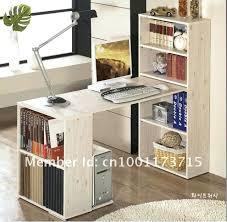 living room desk computer bookshelf combination diy bookcase combo executive l shaped standing attachment small desks