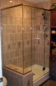 frameless shower enclosure with header and clips