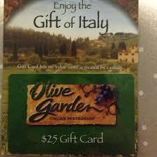 25 olive garden gift card reserved
