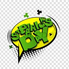 vector ilration transpa background lettering funny ic font st patrick day bubble icon ic sch phrase ic text sound effects cartoon