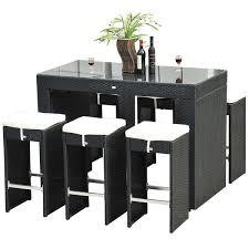 7 piece black dining room set. Outsunny 7-piece Black Rattan Wicker Dining Set 7 Piece Room
