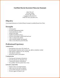 dental assistant resume examplesregularmidwesterners resume and certified dental assistant resume