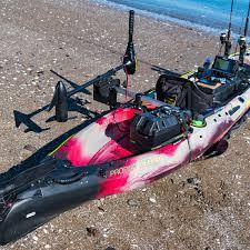railblaza kayak motor mount shown mounted on a viking profish reload